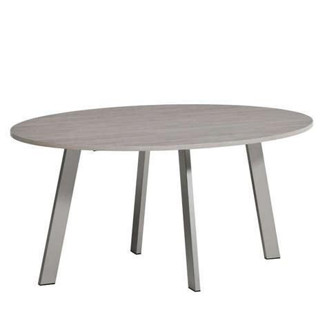 table ovale cuisine table de cuisine ovale en stratifié elias 4 pieds