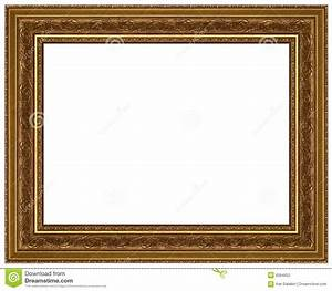 Gold Picture Frame With A Decorative Pattern Stock Photo ...