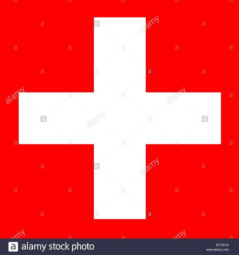 White Cross Background White Cross In Square Background For Swiss Flag Stock