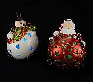 Set of 2 Home Reflections Flameless Luminaries with Gift