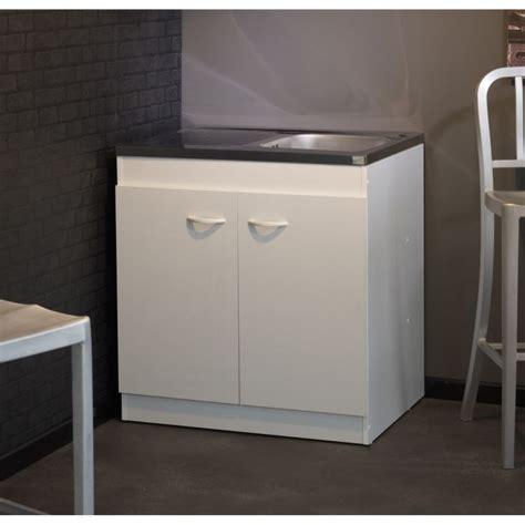 le cuisine sous meuble meuble sous évier cosmos blanc l80 cm achat vente