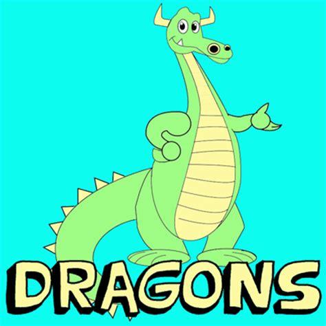 draw cute cartoon dragons  easy step  step