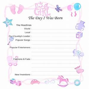 the gallery for gt girl birth certificate template With girl birth certificate template