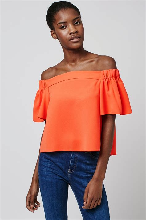 Structured Bardot Top Topshop