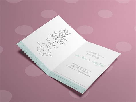 Almost files can be used for commercial. Free Invitation / Greeting Card Mockup Template