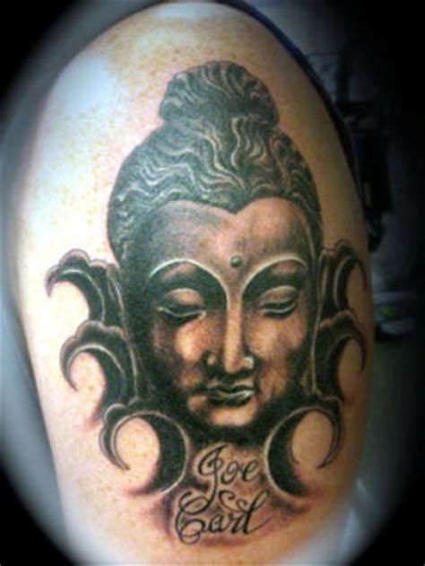 incredible buddha head tattoos  designs