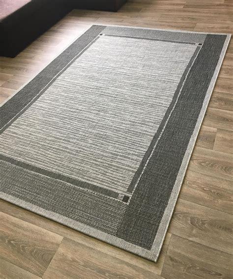 Teppich Küche Geeignet by Flachweb Teppich Grau Silber Flach In Sisal Optik In