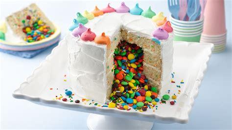 rainbow surprise  cake recipe tablespooncom
