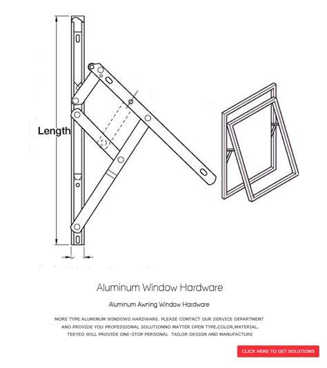 aluminum awning window hardware