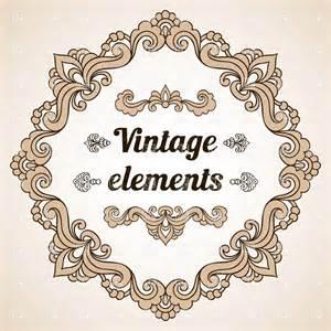designer vintage vintage frame and some design elements vector image 28931 rfclipart