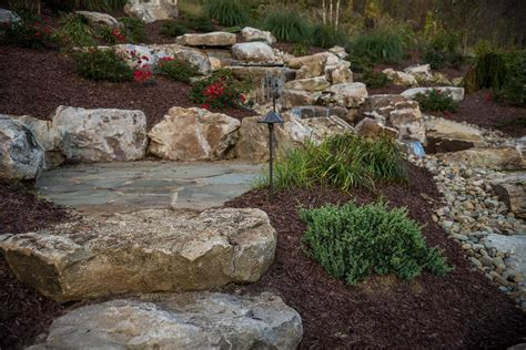 using boulders in landscaping landscaping boulders stone hardscapes