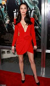 Megan Fox wears risqué red dress at premiere of her new ...