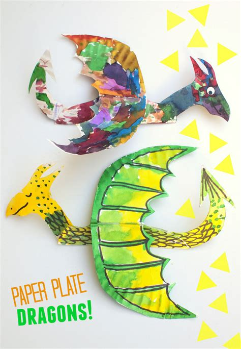 How To Make Colorful And Fun, Flying Paper Plate Dragons