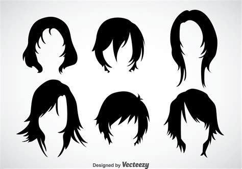 girl hairstyles vector sets   vector art