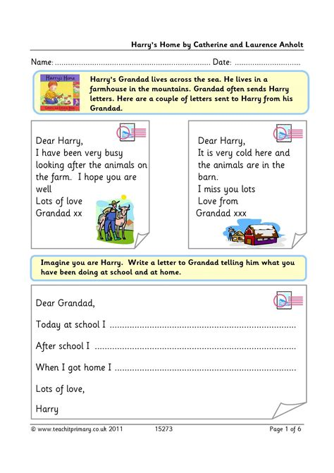 eyfs ks ks letter writing teachit primary