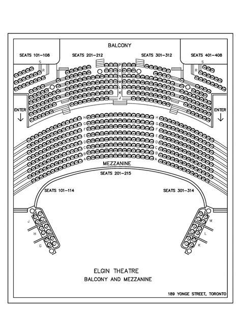 Elgin & Winter Garden Theatre map - Map of Elgin & Winter