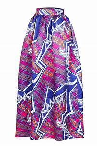 Chic Stylish Diagram Block African Print Navy Purple Maxi