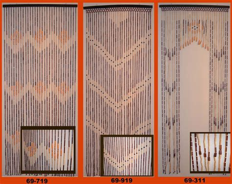 natural bamboo wood beaded door curtains 3 patterns