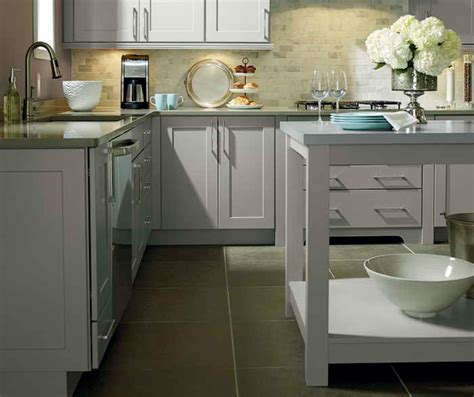 Larsen Cabinets by Light Grey Kitchen Cabinets Kemper Cabinetry
