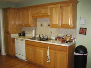 ideas for redoing kitchen cabinets unique pattern backsplash oak cabinet small u shaped