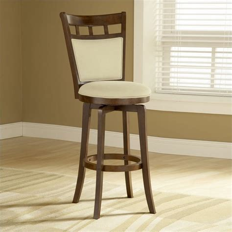 "Hillsdale Jefferson 24"" Swivel Counter Stool in Brown"