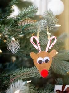candy cane reindeer ornament hgtv
