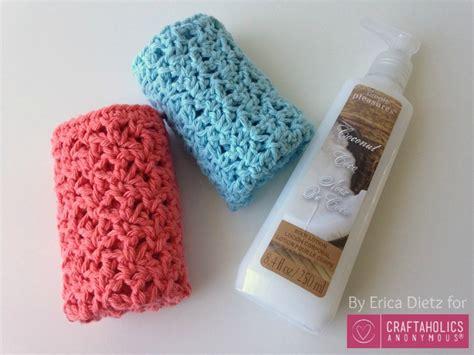crochet washcloth craftaholics anonymous 174 how to crochet washcloths tutorial