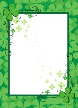 document border template green flowers decoration clip