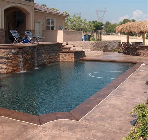 Deck Resurfacing by Concrete Decks Grey Concrete Pool Deck Color Concrete