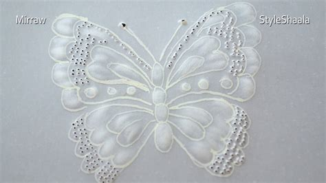 parchment craft butterfly youtube