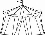 Tent Circus Coloring Pages Clip Printable Unique Getcolorings Clipart Getdrawings sketch template