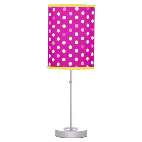 pink purple polka dot girls bedroom lamp zazzle