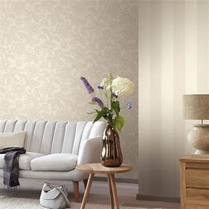 Wohnzimmer Tapeten mit eleganten Ornamenten Amira von