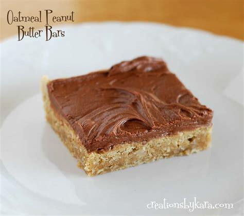 chocolate oatmeal peanut butter bars