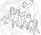 Bear Hunt Coloring Cave Going Pages Gloomy Colouring Narrow Re Printable Supercoloring Crafts Teddy Were Printables Google Caves Hunting Berenjacht sketch template