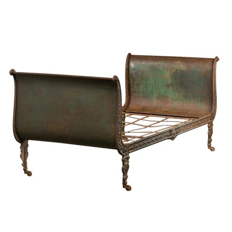 regency sofa antique cast iron painted daybed at 1stdibs