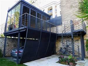 Garage Salon : salon d 39 ete contemporary garage dijon by athias architecte ~ Gottalentnigeria.com Avis de Voitures
