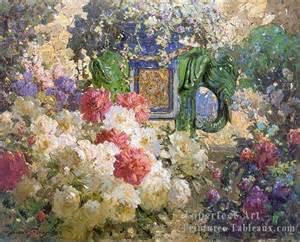 yellow vase 2fl053c impressionnistes fleurs peintures et tableau
