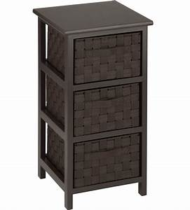 Three, Drawer, Storage, Chest, In, Shelves, With, Baskets