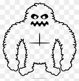 Clipart Coloring Yeti Pinclipart sketch template