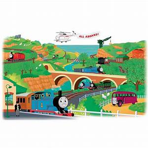 roommates 5 in x 19 in thomas and friends peel and stick With nice thomas the traind wall decals canada