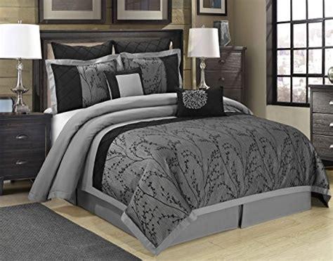 8 piece weistera jacquard tree branches comforter sets queen dark grey ebay