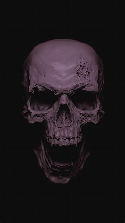 Skull Wallpapers Phone Grey Iphone Mobile Ultra