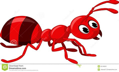Red Ant Cartoon Stock Illustration