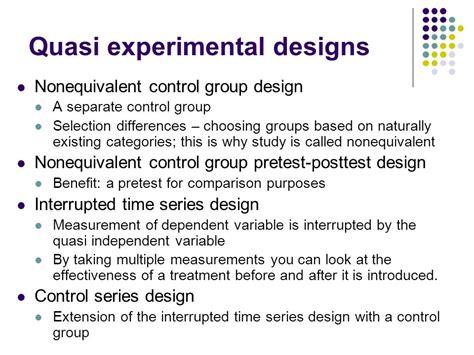 quasi experimental design quasi experimental and single experimental designs