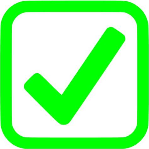 lime checked checkbox icon free lime check mark icons