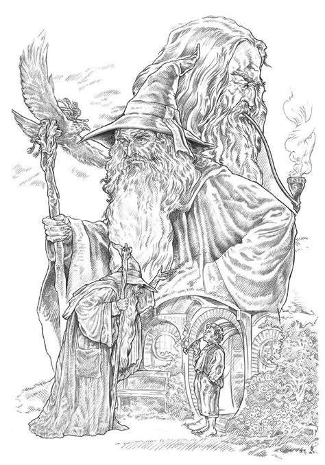 Gandalf by NachoCastro on DeviantArt (With images) | Dragon coloring page, Coloring pages, Adult