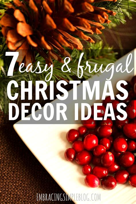 easy and inexpensive christmas decor ideas embracing simple