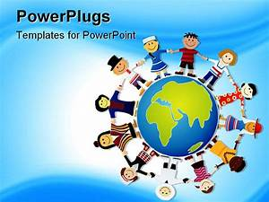 Powerpoint Template  World Peace Depiction  Different
