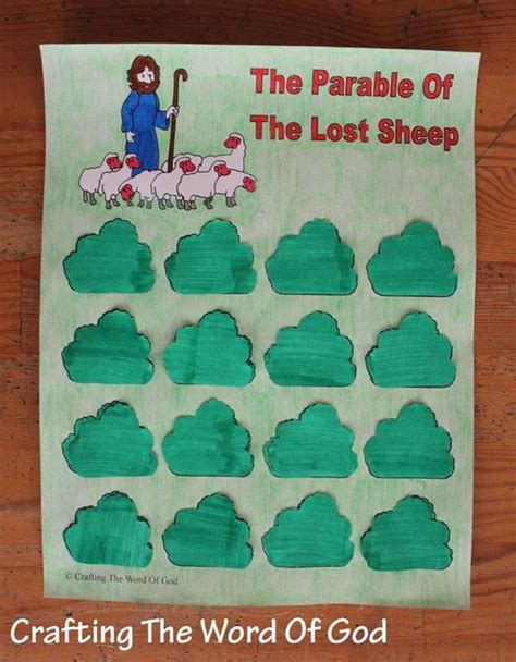 the parable of the lost sheep bible crafts 804 | 21f69b84989f614cd619b23d7418d626